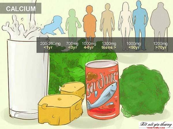Canxi là dưỡng chất quan trọng giúp tăng chiều cao ở tuổi dậy thì