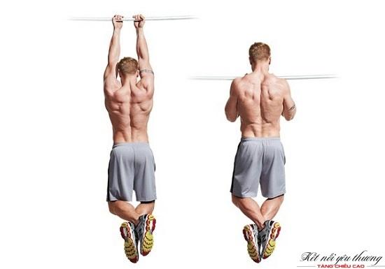 Đu xà đơn giúp kéo giãn đốt xương và tăng cường sức mạnh cơ bắp phần thân trên