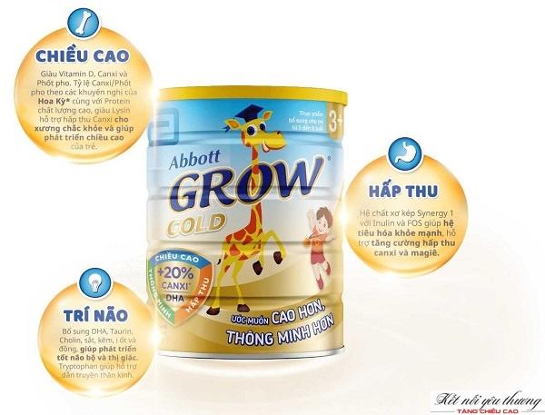 Sữa Abbott Grow Gold giúp phát triển chiều cao và trí não