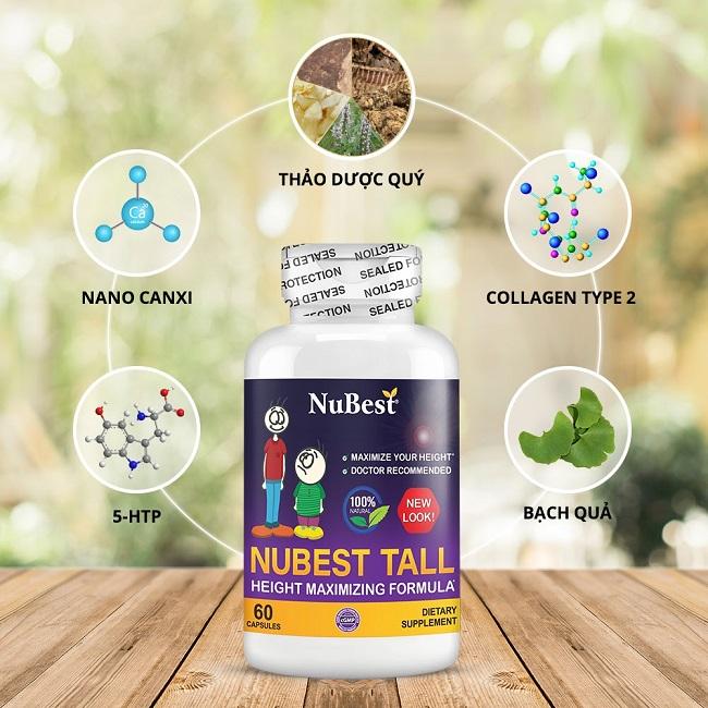 Thành phần NuBest Tall có sự kết hợp Đông - Tây y