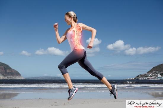 Chạy bộ tăng chiều cao giải nén cột sống