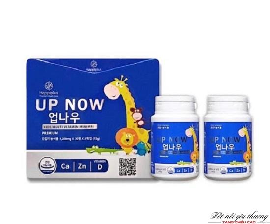 Kẹo tăng chiều cao UP NOW Happiplus có dạng kẹo ngậm giúp trẻ ăn ngon và tăng chiều cao
