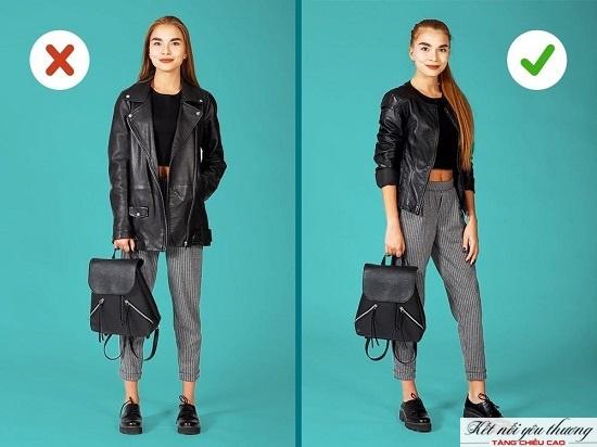 Khéo léo phối hợp trang phục giúp bạn trông cao hơn