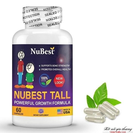 Thuốc tăng chiều cao NuBest Tall được sản xuất và đóng gói tại Mỹ