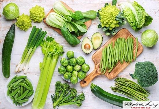 Tăng chiều cao cho trẻ 12 tuổi bằng cách bổ sung rau xanh.